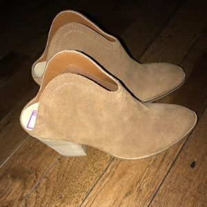 Chinese Laundry Open Back Mule Bootie Tan 8.5 NWT